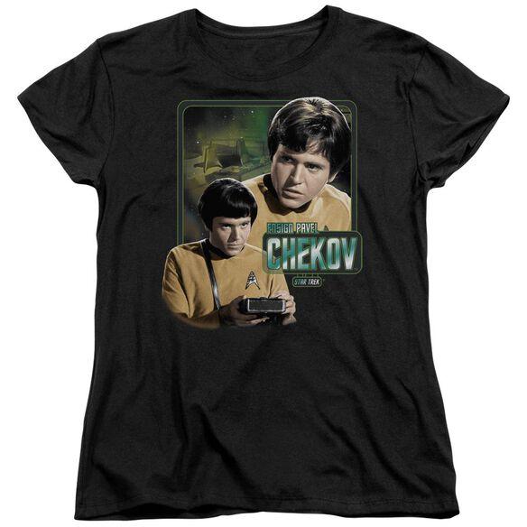 Star Trek Ensign Chekov Short Sleeve Womens Tee T-Shirt