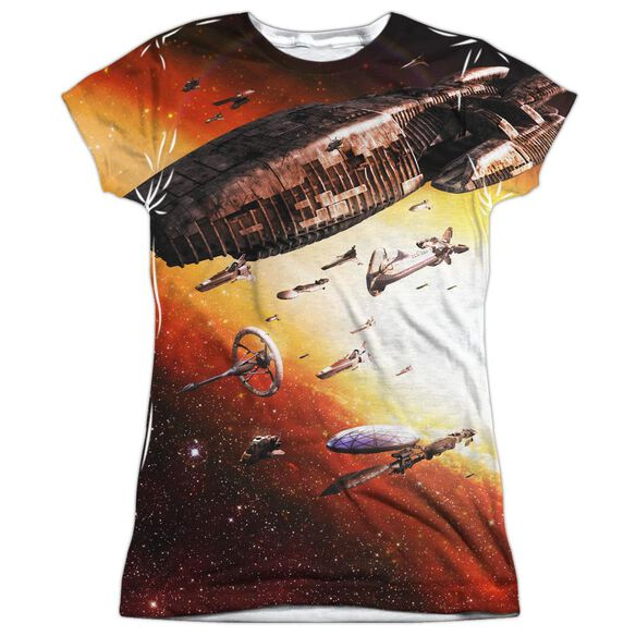 Bsg (New) Fleet Of Humanity Short Sleeve Junior Poly Crew T-Shirt