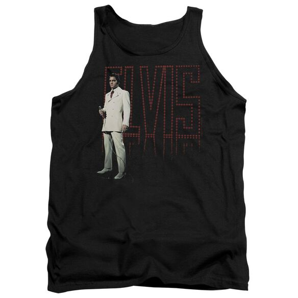 Elvis White Suit Adult Tank
