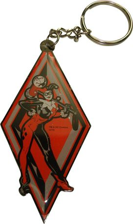 Harley Quinn Diamond Metal Keychain