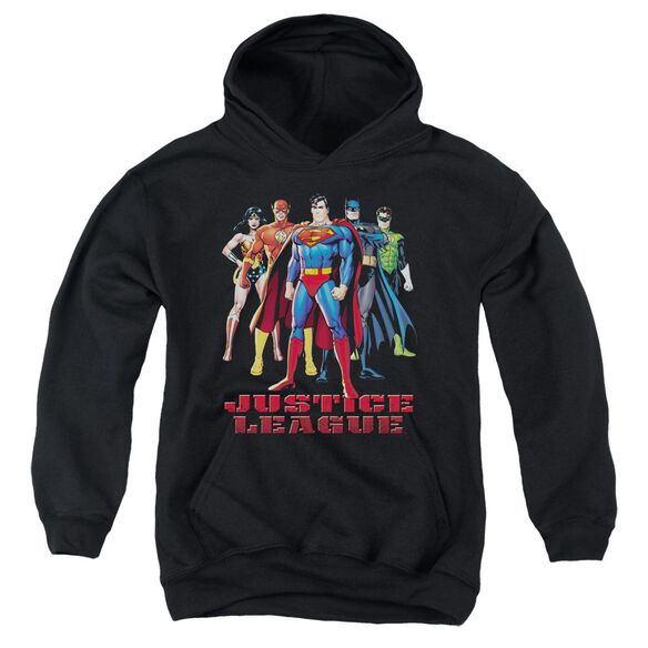 Jla In League Youth Pull Over Hoodie