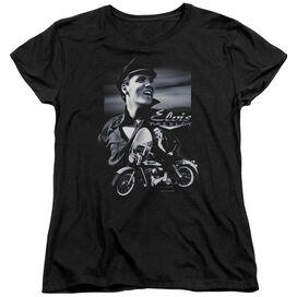 ELVIS PRESLEY MOTORCYCLE - S/S WOMENS TEE - BLACK T-Shirt
