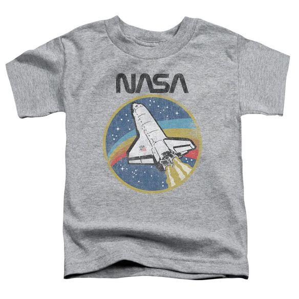 Nasa Shuttle Short Sleeve Toddler Tee Athletic Heather T-Shirt