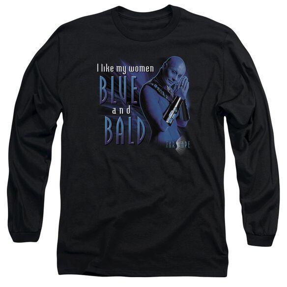 FARSCAPE BLUE AND BALD - L/S ADULT 18/1 - BLACK T-Shirt