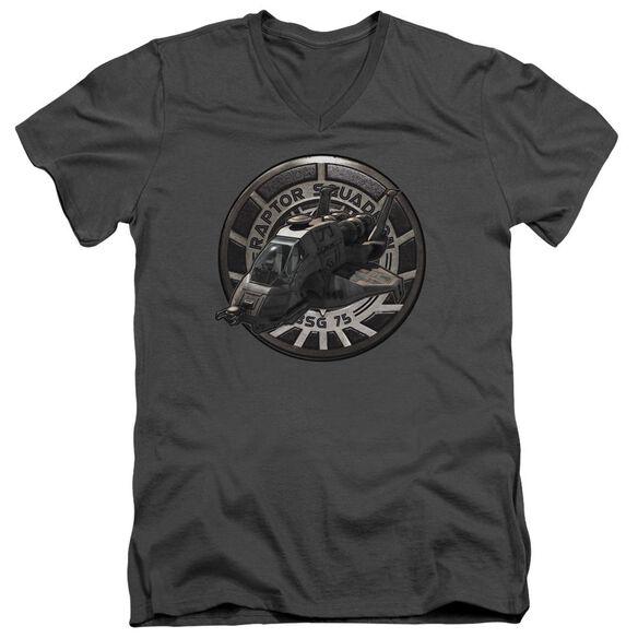 Bsg Raptor Squadron Short Sleeve Adult V Neck T-Shirt