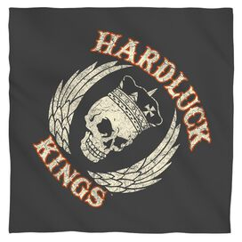 Hardluck Kings Red Cream Distress Bandana White