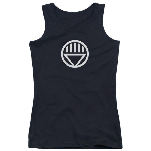 Green Lantern Black Lantern Logo - Juniors Tank Top - Black