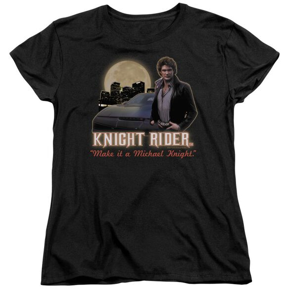 Knight Rider Full Moon Short Sleeve Womens Tee T-Shirt