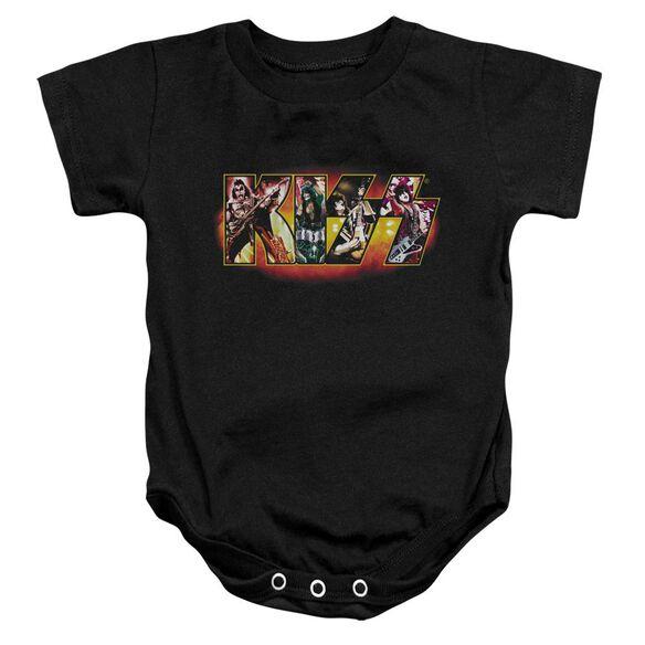 Kiss Stage Logo Infant Snapsuit Black
