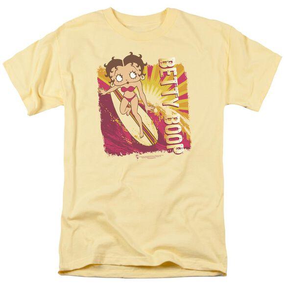 Betty Boop Sunset Surf Short Sleeve Adult Banana T-Shirt