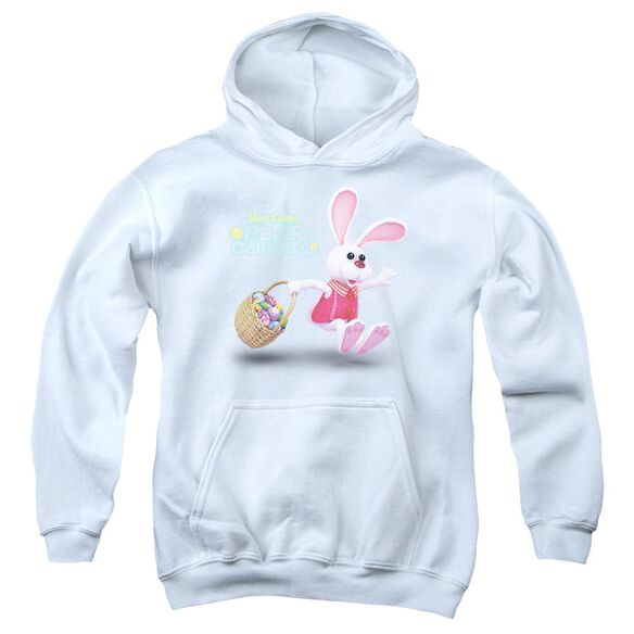 Here Comes Peter Cottontail Hop Around-youth Pull-over Hoodie - White