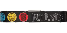 Fantastic Four Faces Circles Seatbelt Belt