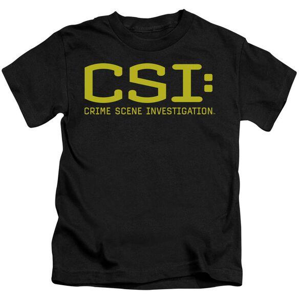 Csi Logo Short Sleeve Juvenile Black Md T-Shirt