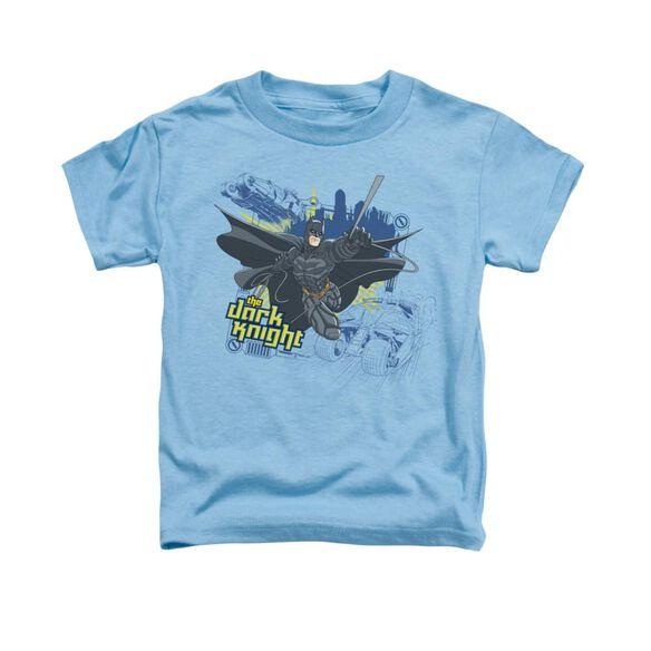 Dark Knight Jump Swing And Drive Short Sleeve Toddler Tee Carolina Blue T-Shirt