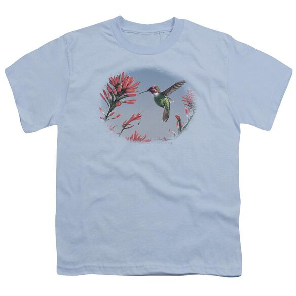 Wildlife Annas Hummingbird Short Sleeve Youth Light T-Shirt