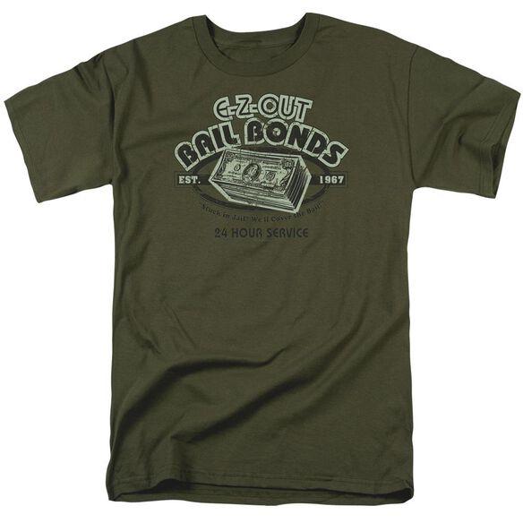 E Short Sleeve Adult Military Green T-Shirt
