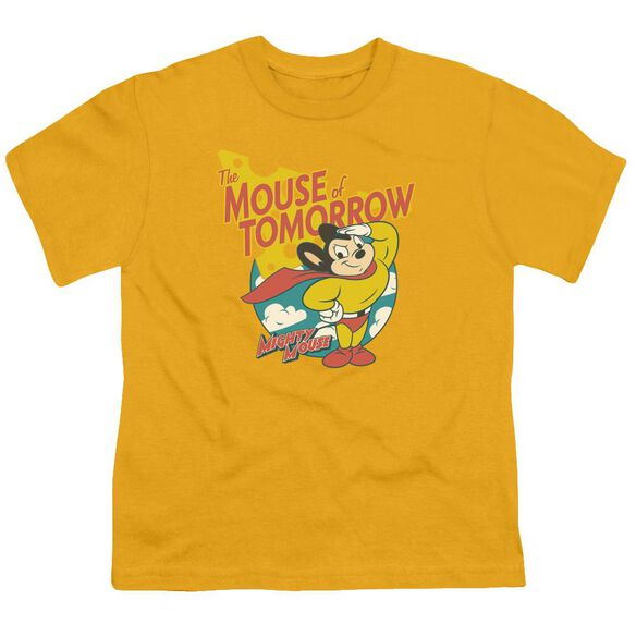 Mighty Mouse Mouse Of Tomorrow Short Sleeve Youth T-Shirt