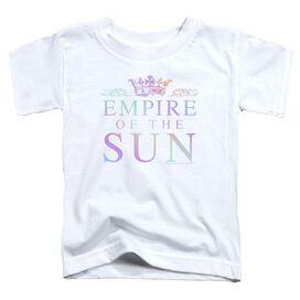 Empire Of The Sun Rainbow Logo Short Sleeve Toddler Tee White T-Shirt