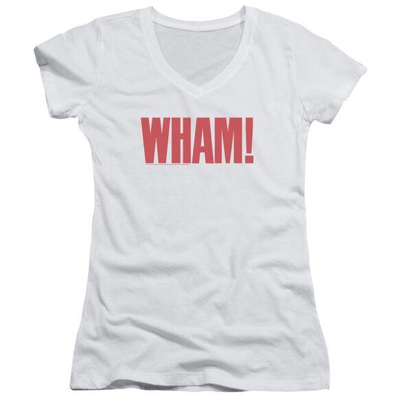 Wham Logo Junior V Neck T-Shirt