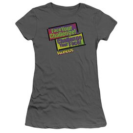 Warheads Face Your Challenge Short Sleeve Junior Sheer T-Shirt