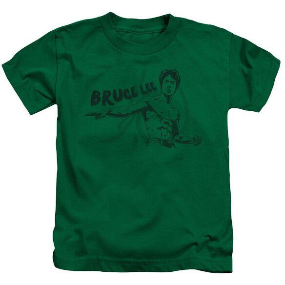 Bruce Lee Brush Lee Short Sleeve Juvenile Kelly Green T-Shirt