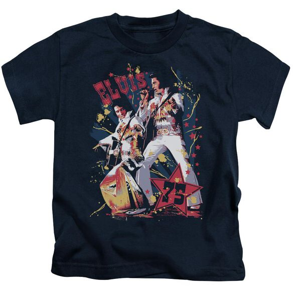 Elvis Eagle Elvis Short Sleeve Juvenile Navy T-Shirt