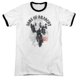 Sons Of Anarchy Reapers Ride Adult Ringer White Black