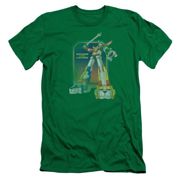 Voltron Distressed Defender Short Sleeve Adult Kelly T-Shirt