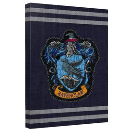 Harry Potter Ravenclaw Stitch Crest Canvas Wall Art With Back Board