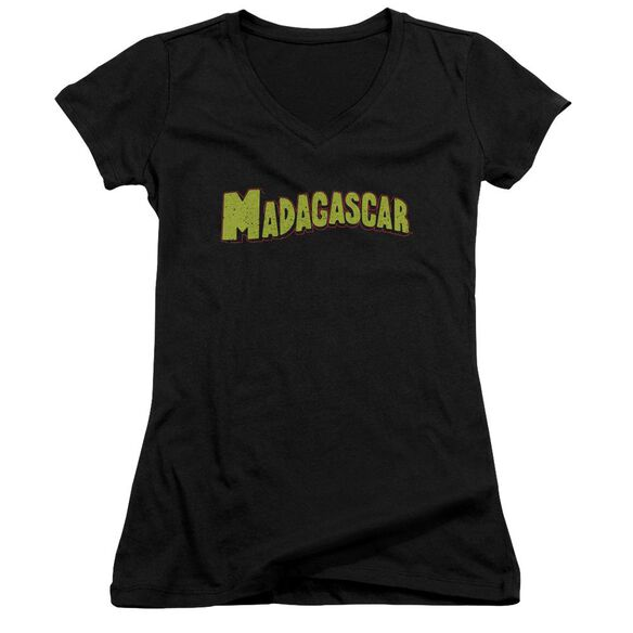 Madagascar Logo Junior V Neck T-Shirt