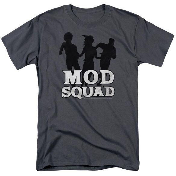 Mod Squad Mod Squad Run Simple Short Sleeve Adult Charcoal T-Shirt