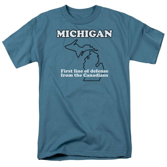 Michigan Short Sleeve Adult Slate T-Shirt