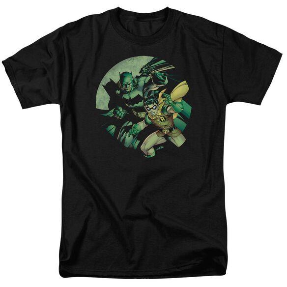 Batman Batman And Robin Short Sleeve Adult Black T-Shirt