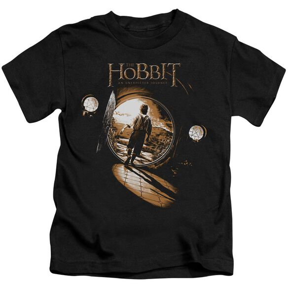 The Hobbit Hobbit Hole Short Sleeve Juvenile Black T-Shirt