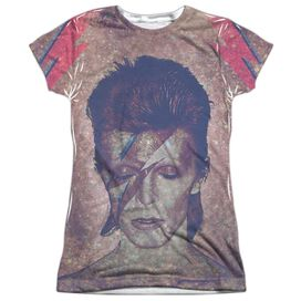 David Bowie Glam Short Sleeve Junior Poly Crew T-Shirt