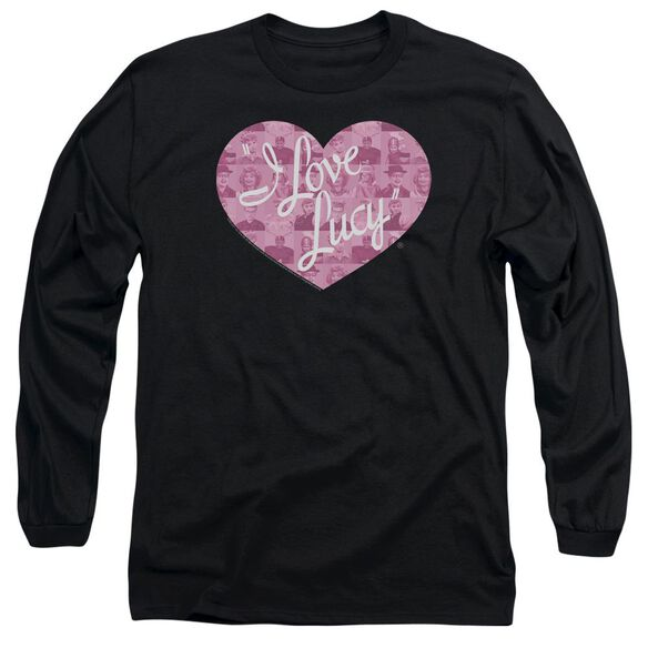 I Love Lucy Many Moods Logo Long Sleeve Adult T-Shirt