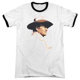John Wayne Painted Profile Adult Ringer White Black