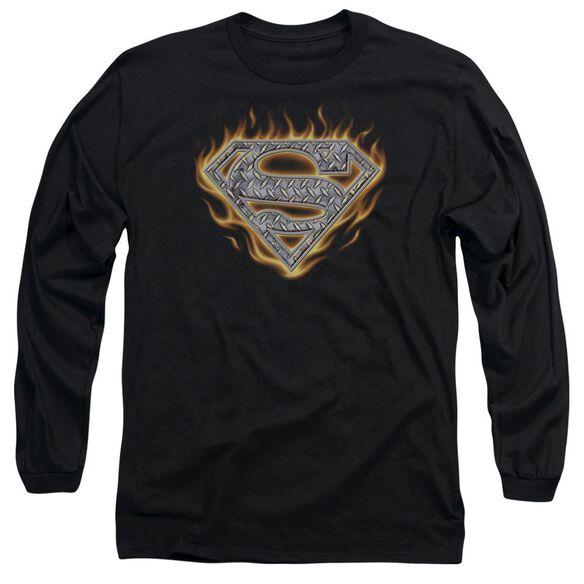 SUPERMAN STEEL FIRE SHIELD-L/S T-Shirt
