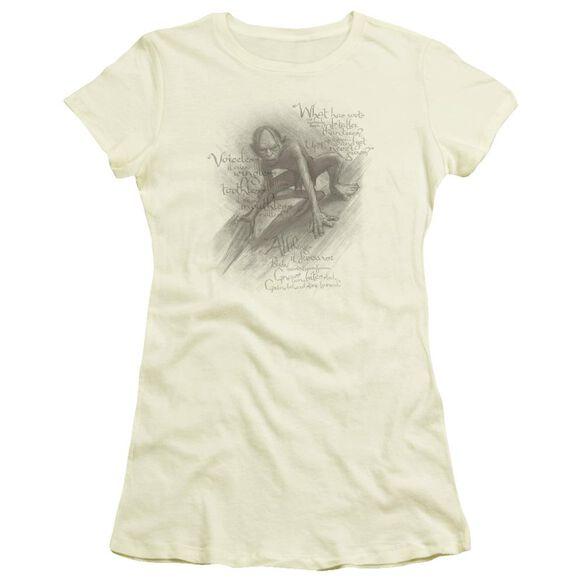 The Hobbit Riddles Short Sleeve Junior Sheer T-Shirt