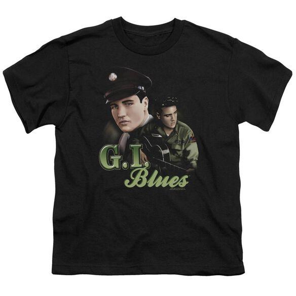ELVIS PRESLEY G I BLUES - S/S YOUTH 18/1 - BLACK T-Shirt