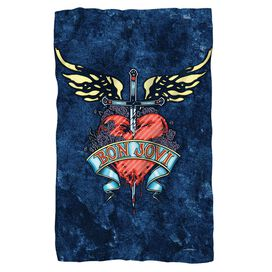 Bon Jovi Weathered Denim Fleece Blanket