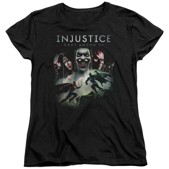 Injustice Gods Among Us Key Art Short Sleeve Womens Tee T-Shirt