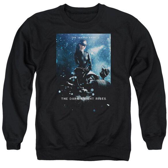 Dark Knight Rises Catwoman Poster Adult Crewneck Sweatshirt