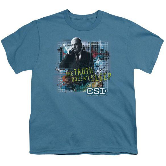 Csi Truth Doesn't Sleep Short Sleeve Youth T-Shirt