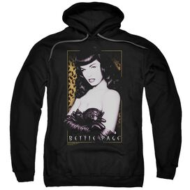 Bettie Page New Cheetah Adult Pull Over Hoodie