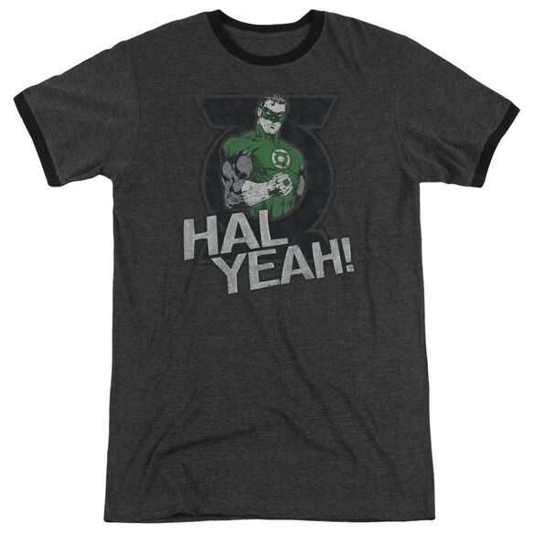 Green Lantern Hal Yeah Adult Heather Ringer Charcoal