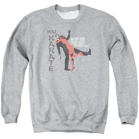 Hai Karate Name Adult Crewneck Sweatshirt Athletic