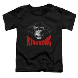 King Kong Kong Face Short Sleeve Toddler Tee Black T-Shirt