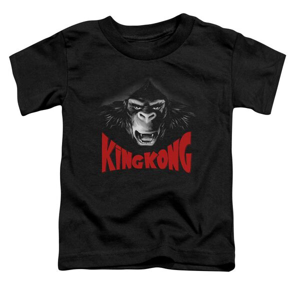 King Kong Kong Face Short Sleeve Toddler Tee Black T-Shirt