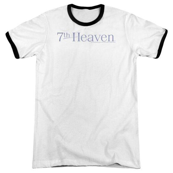7 Th Heaven 7 Th Heaven Logo Adult Ringer White Black